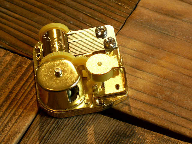 Gears of a music box