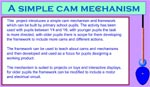 Simple Cam Mechanism Site